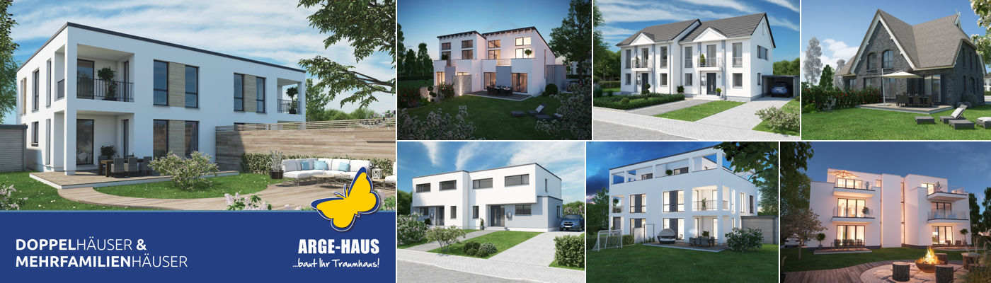 Der ARGE-HAUS Doppelhaus Katalog.